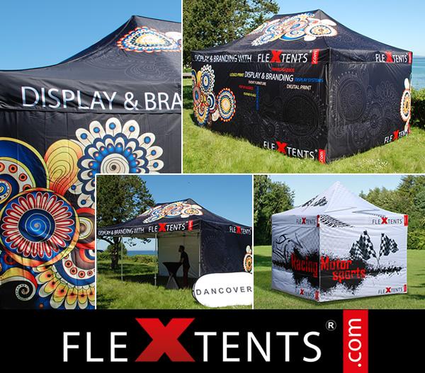 Cyfrowy zadruk namiotu FlexTents® - najlepszego namiotu ekspresowego na rynku