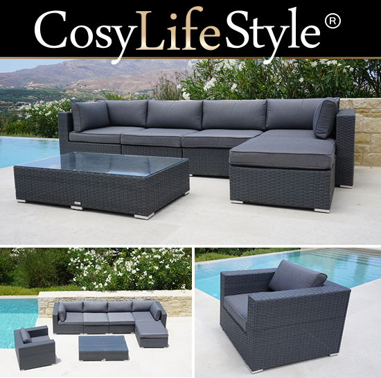 Meble ogrodowe z technorattanu CosyLifeStyle by Dancover