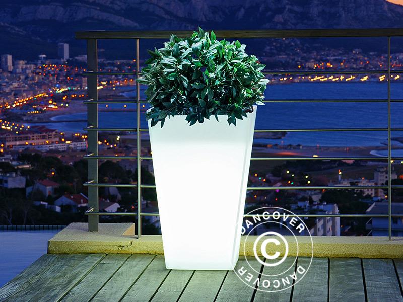 Eleganckie donice z wbudowanym światłem LED