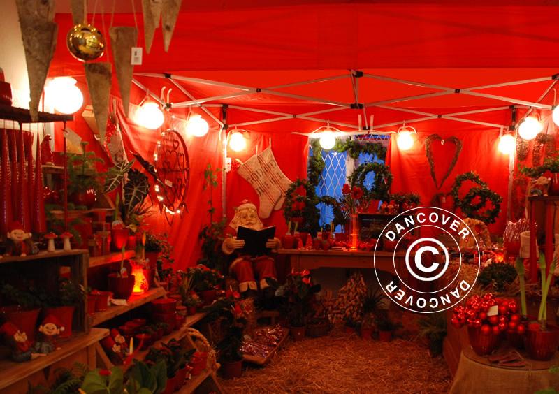 Jarmark Bożonarodzeniowy w eleganckim namiocie targowym